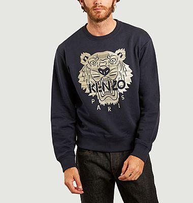 Sweatshirt brodé tigre