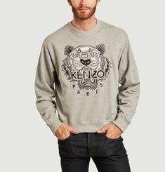 Varsity Tiger embroidered sweatshirt