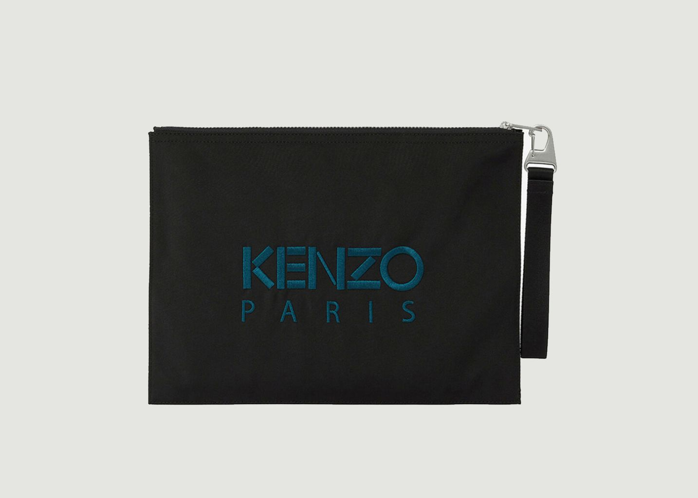 Grande pochette porte-documents zippée siglée en toile - Kenzo