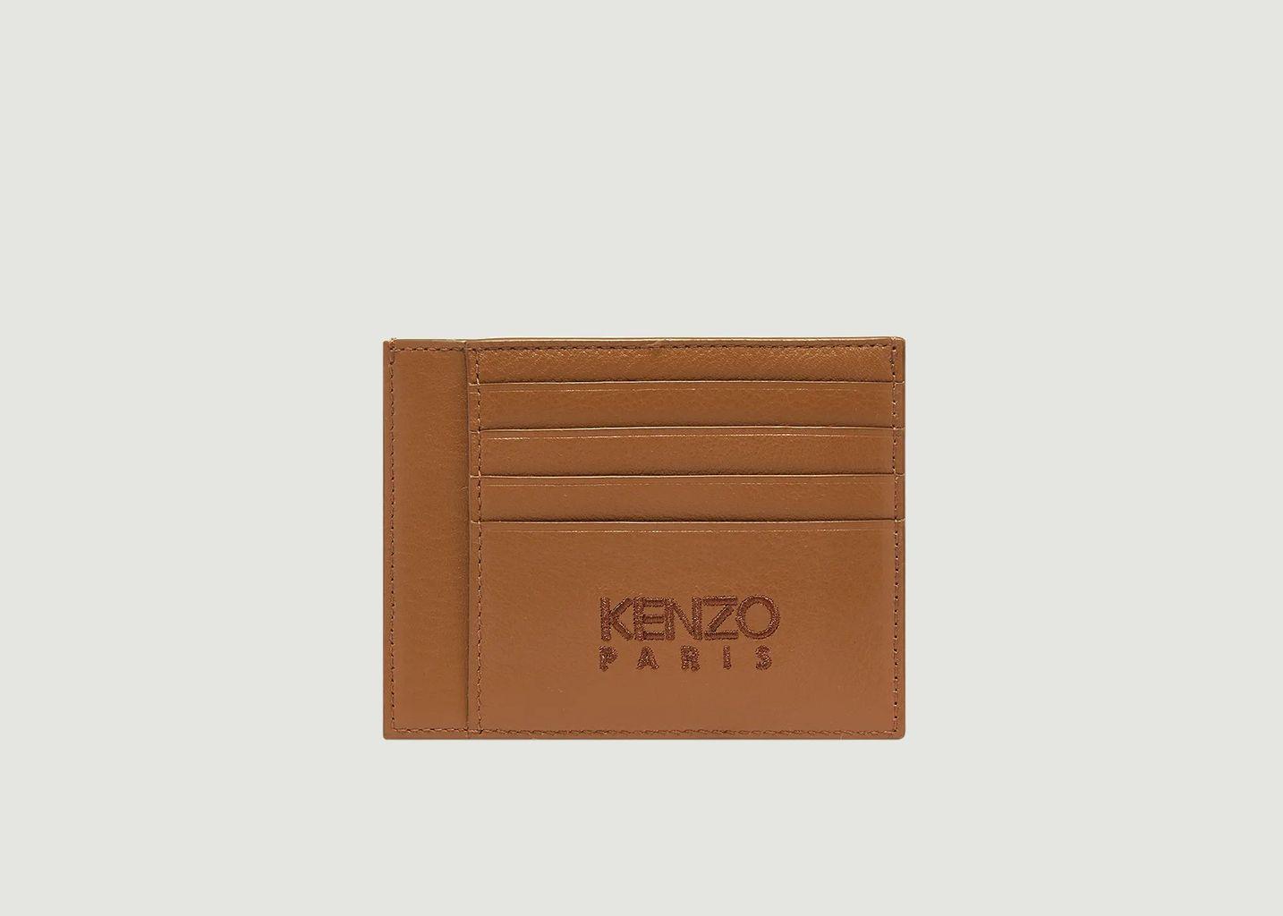 Porte-cartes en cuir siglé - Kenzo