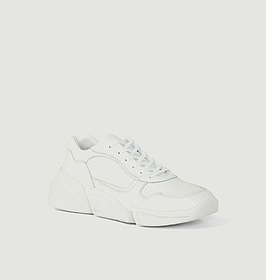 Kross leather low top running sneakers