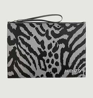 Kenzo x Kansai Yamamoto leopard pattern leather pouch