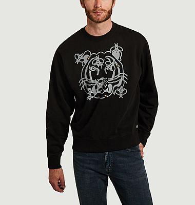 Sweatshirt en coton bio imprimé Bee A Tiger