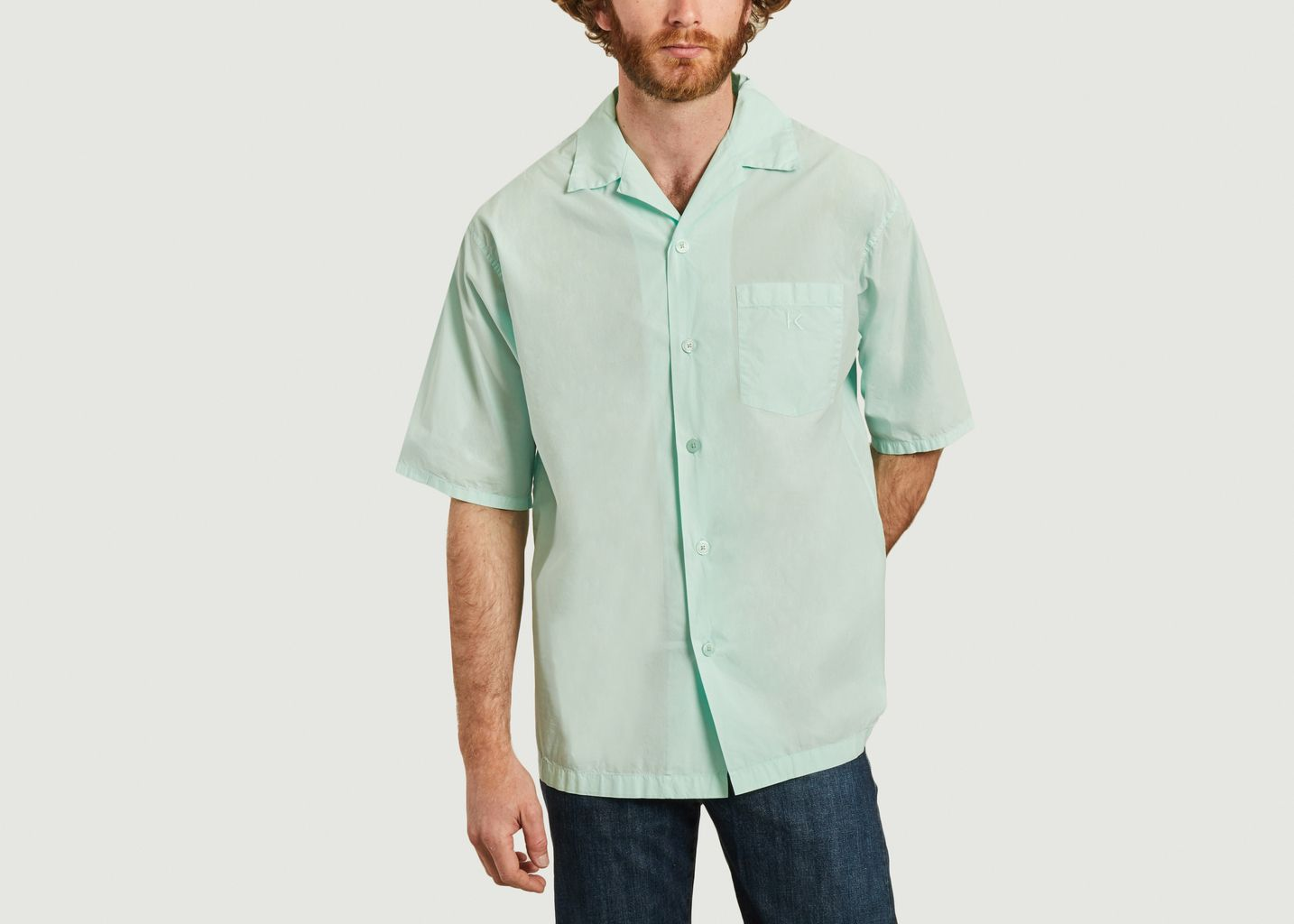 Chemise manches courtes casual avec poche siglée - Kenzo