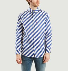 Diagonal Striped Shirt