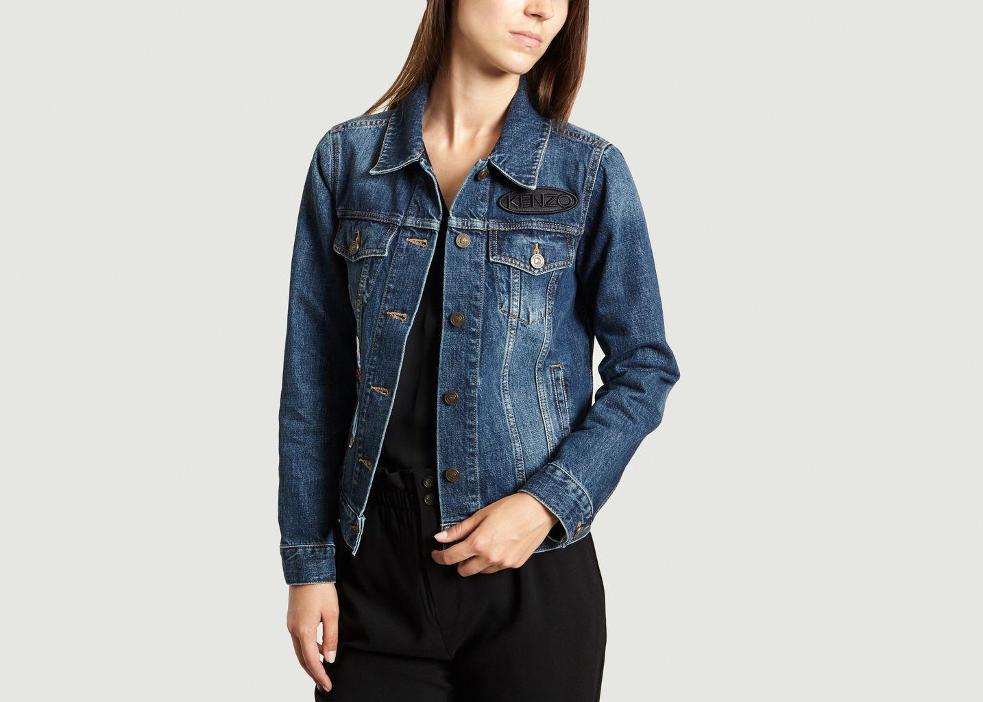 veste patchs kenzo bleu marine l 39 exception. Black Bedroom Furniture Sets. Home Design Ideas