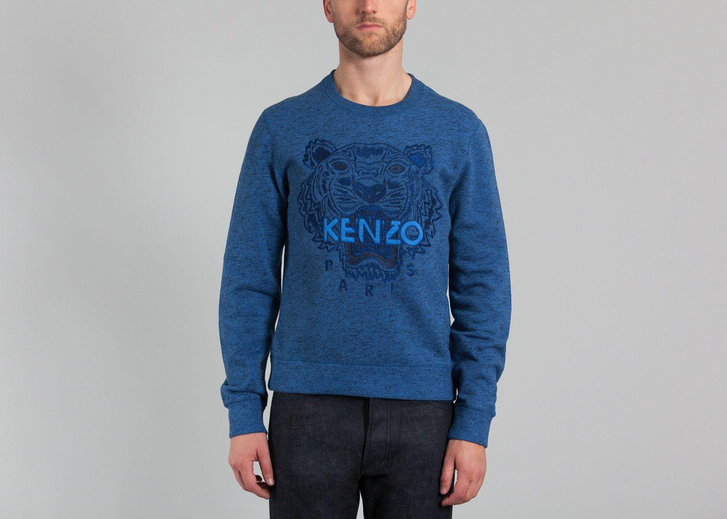 Sweat Tigre Kenzo Bleu L Exception