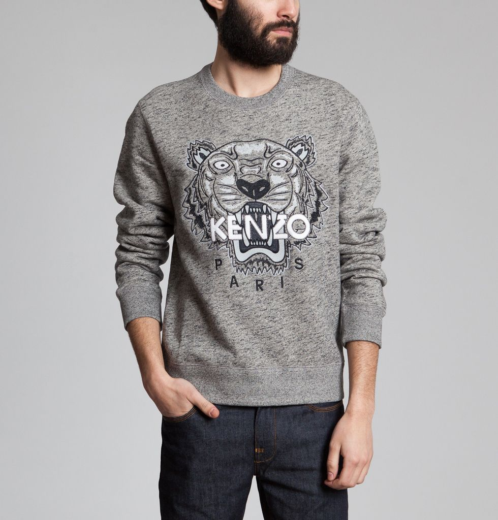 Sweat Tiger Gris Kenzo   L Exception fbaf096ff91