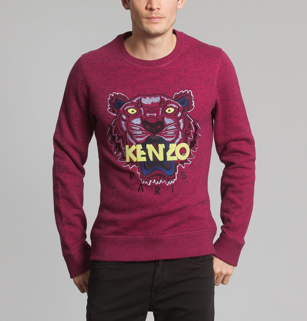 Sweat Tiger Bordeaux Kenzo   L Exception 22be09d5d65