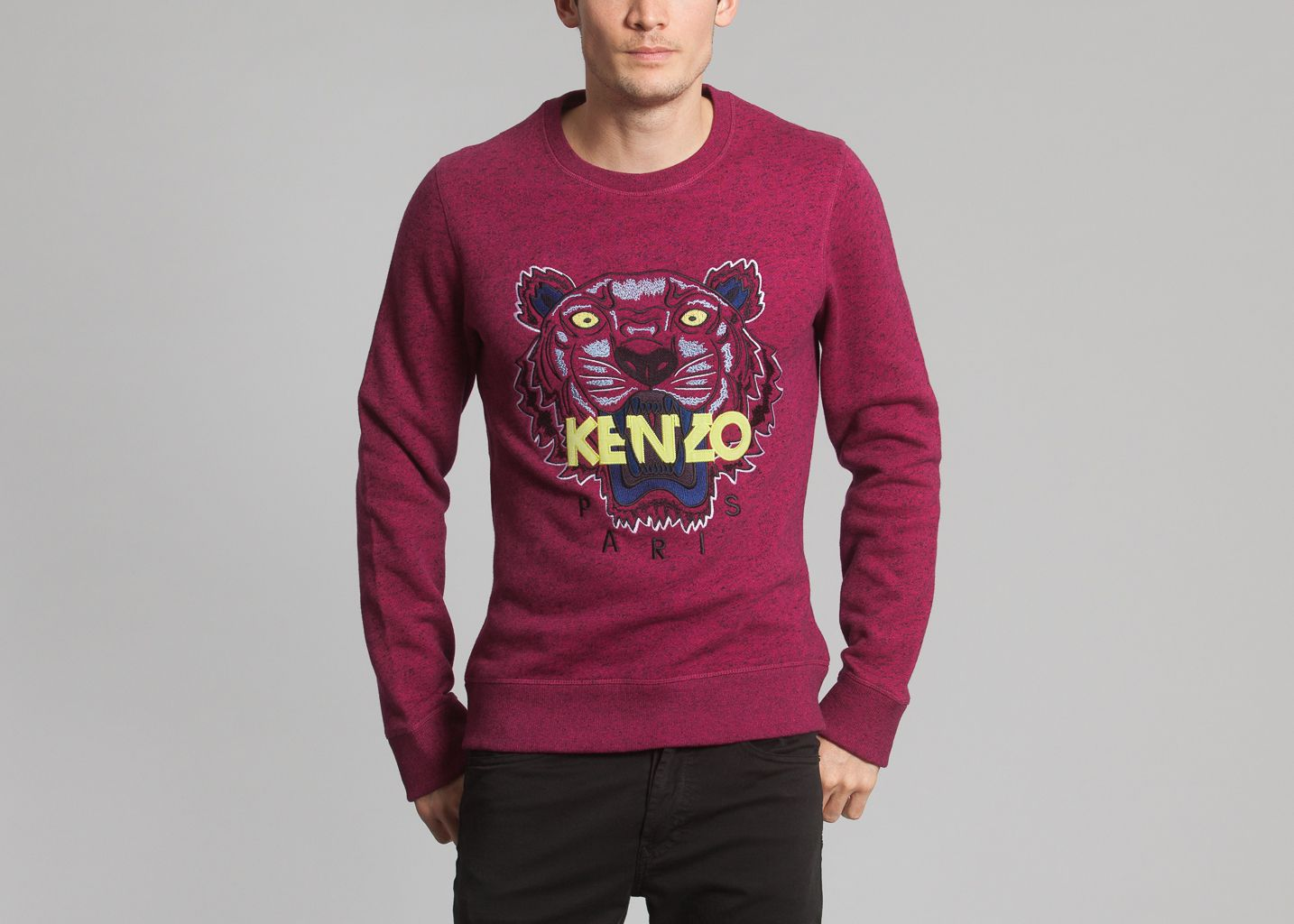 Tiger Sweater Burgundy Kenzo   L Exception 50df78b1f3b