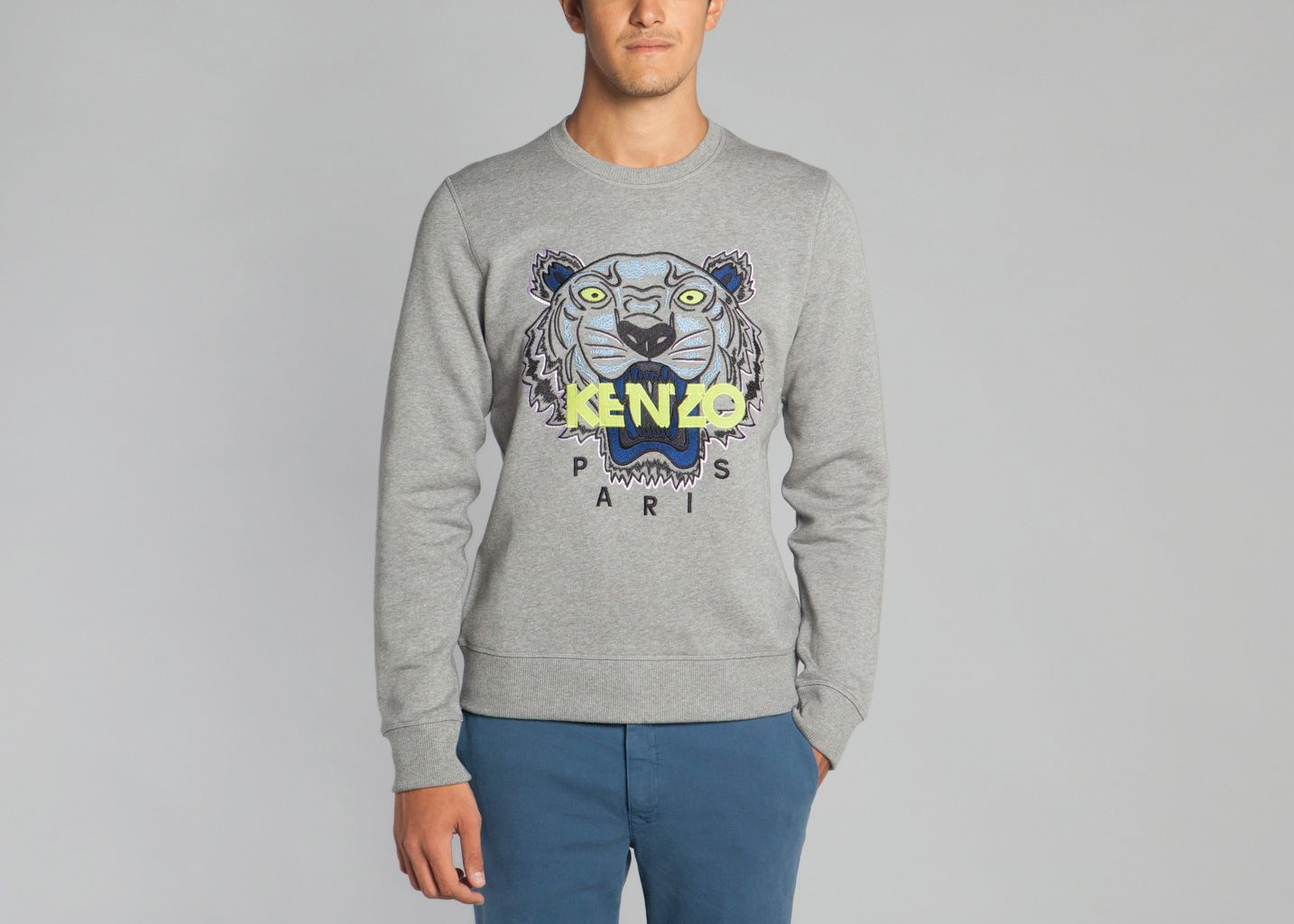 a17a57539b5 Tiger Sweater Grey Kenzo
