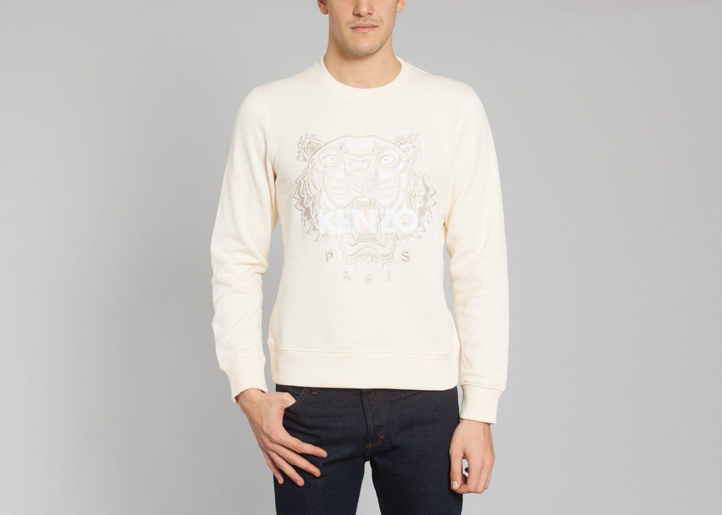 Tiger Sweatshirt Beige Kenzo   L Exception 47005d45c21