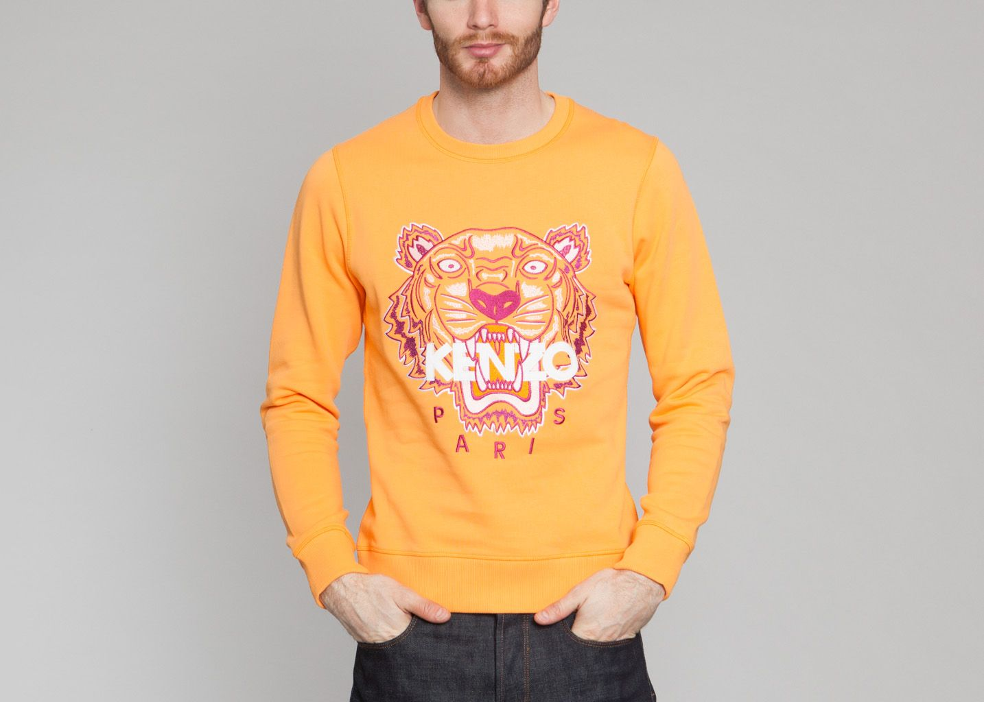 Sweat Tigre Orange Kenzo   L Exception 8a6ea1c766c