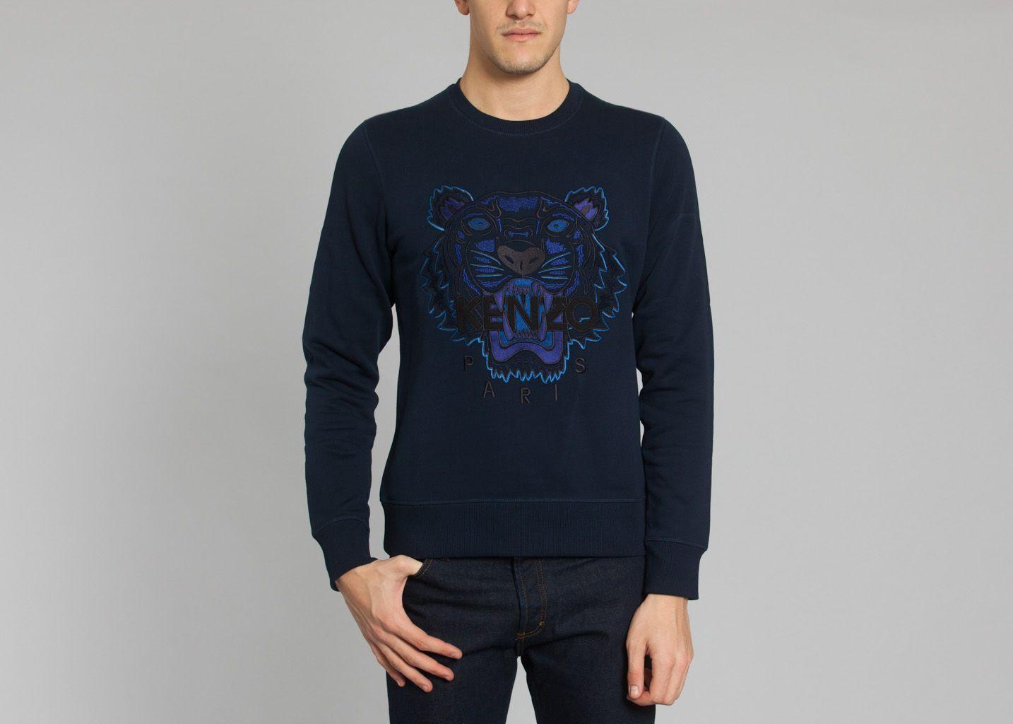 410598e74f1b Sweat Tigre Bleu Marine Kenzo   L Exception