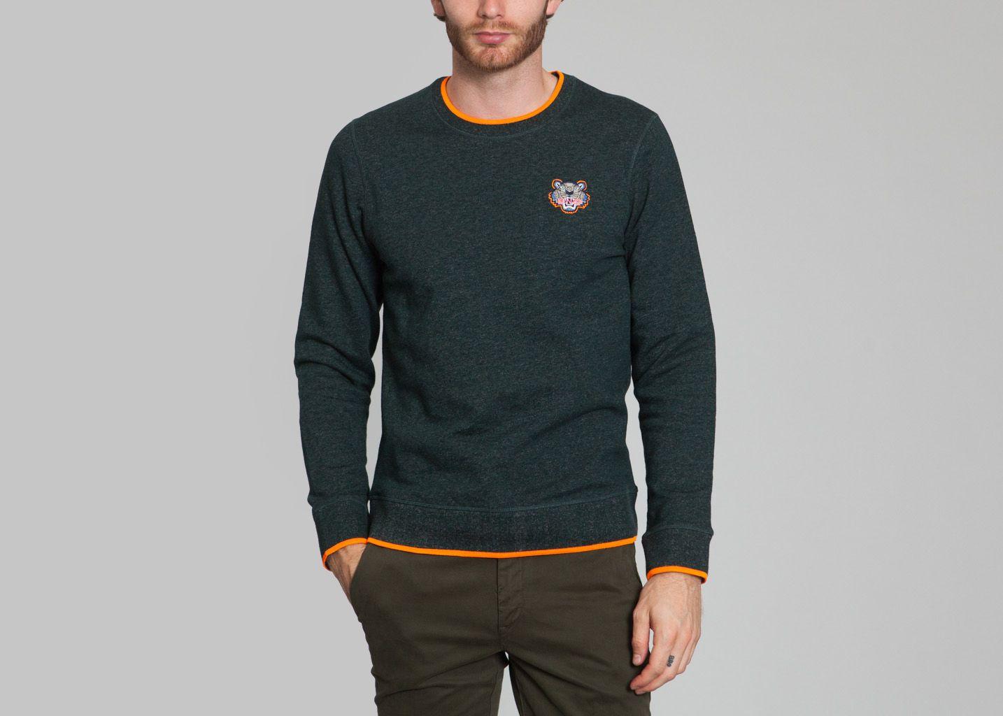 Small Tiger Sweatshirt Fir Green Kenzo   L Exception 805c22c483f