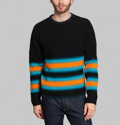 Pull Striped Brushed Lambswool Story