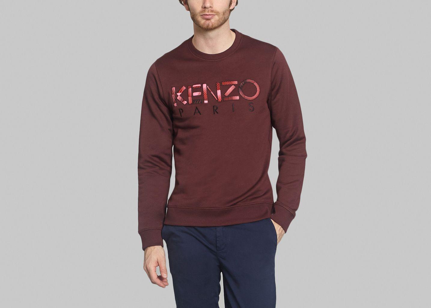 Sweat Kenzo Print Bordeaux Kenzo   L Exception 41e70119b78