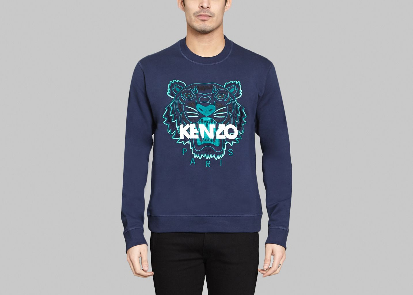 2931645d44fa Sweat Tigre Bleu Marine Kenzo   L Exception