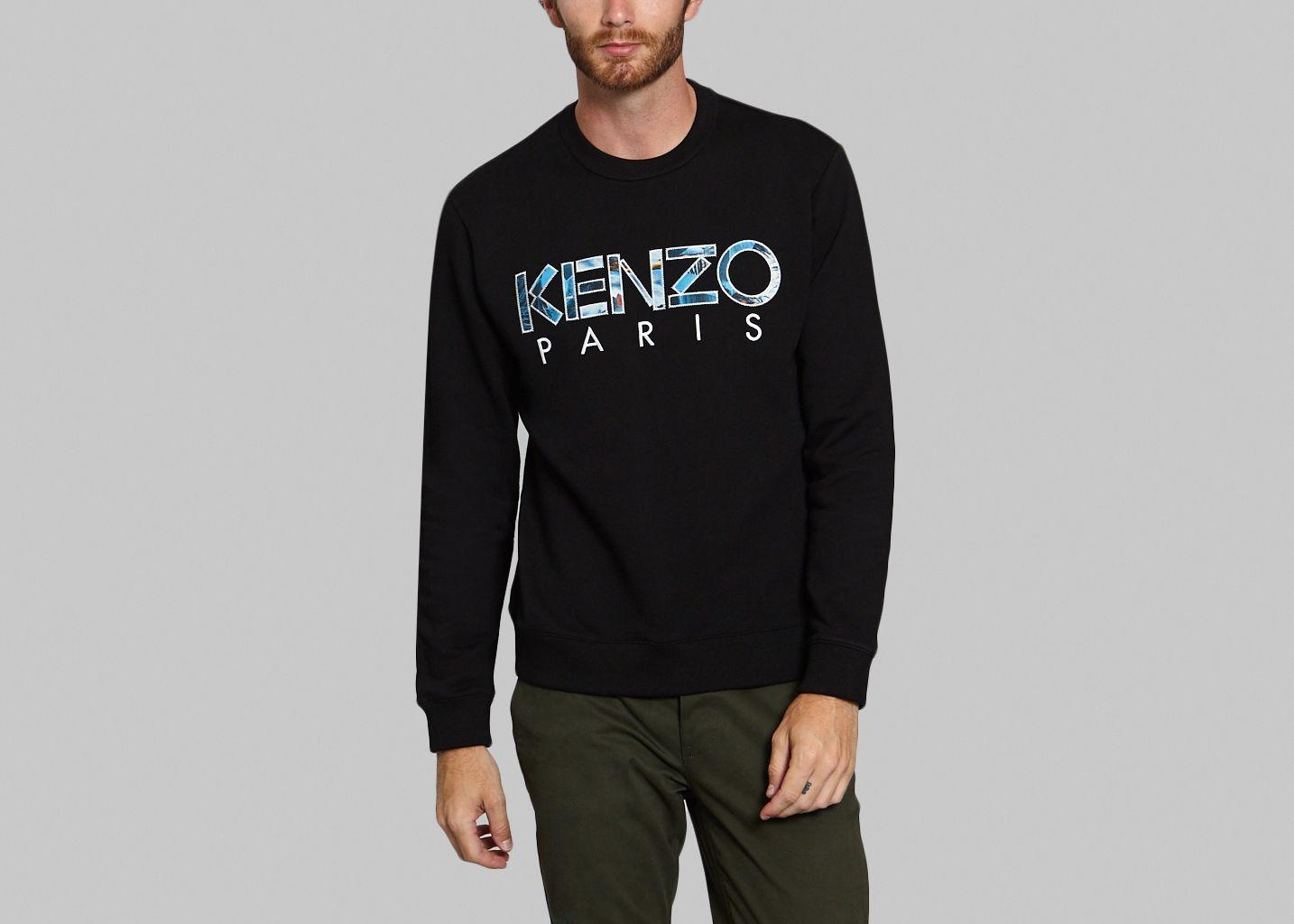 45c39dc58486 Pull Logo Noir Kenzo   L Exception