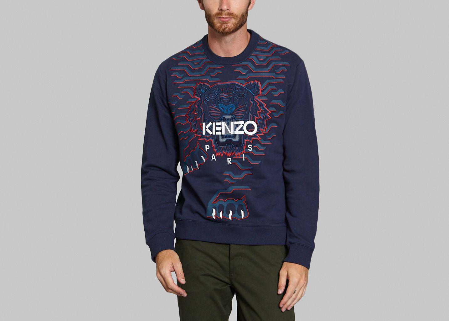 Big Tiger Sweatshirt Ink Kenzo   L Exception ffb6be1365b