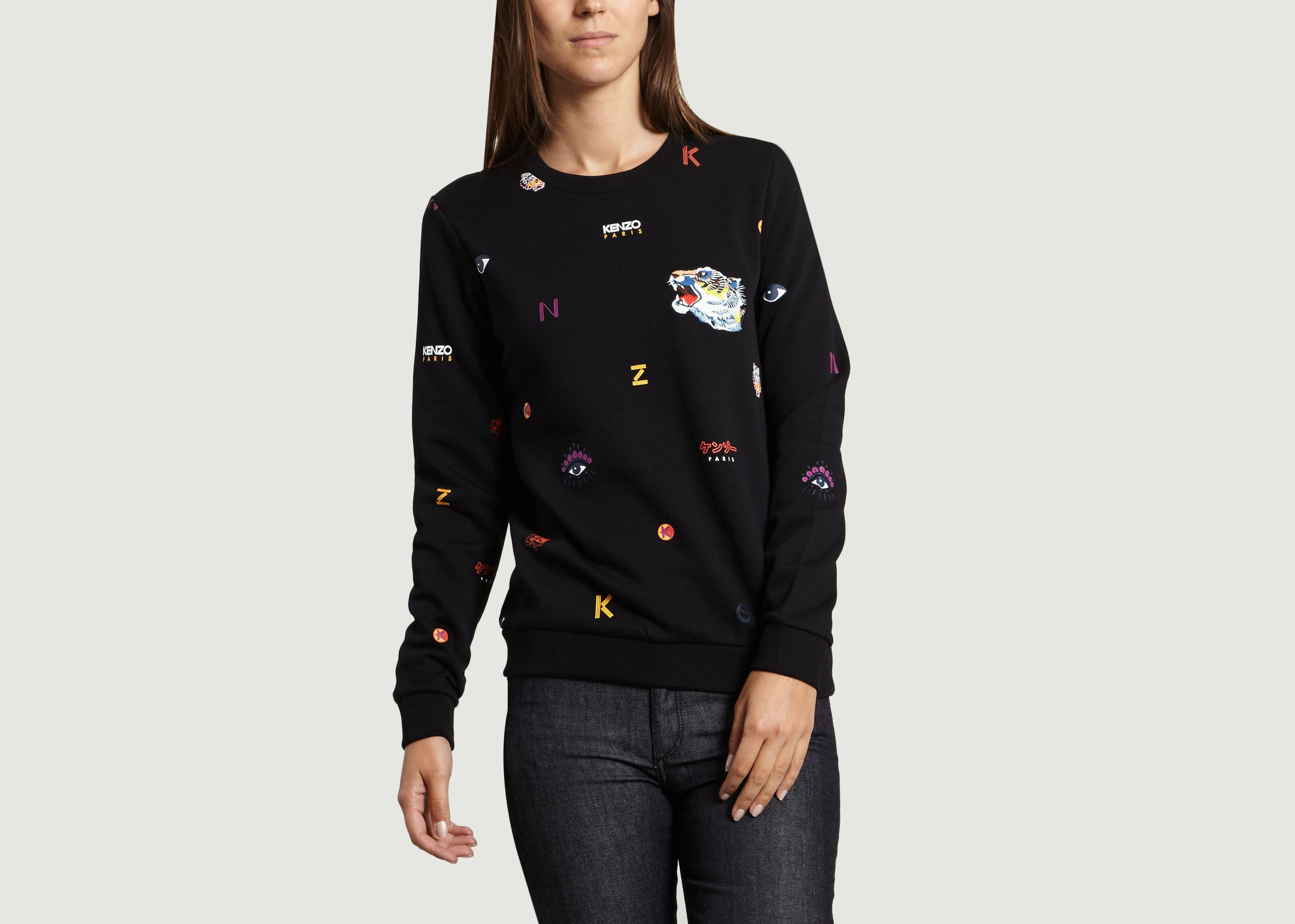 Multi Icon Sweatshirt Black Kenzo   L Exception b43bc35c6ea