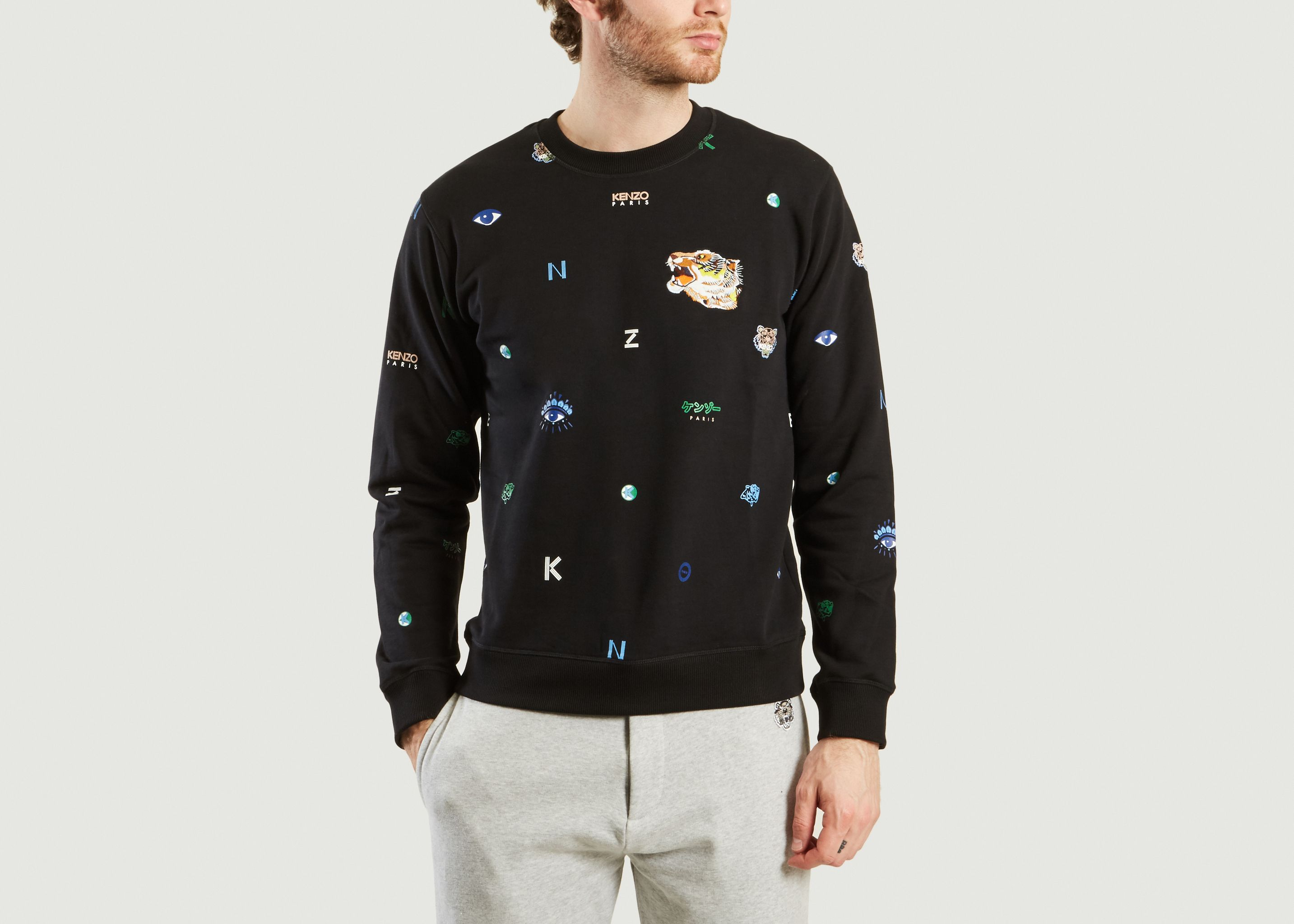dcb8f8dbe602 Multi Icon Sweatshirt Black Kenzo   L Exception