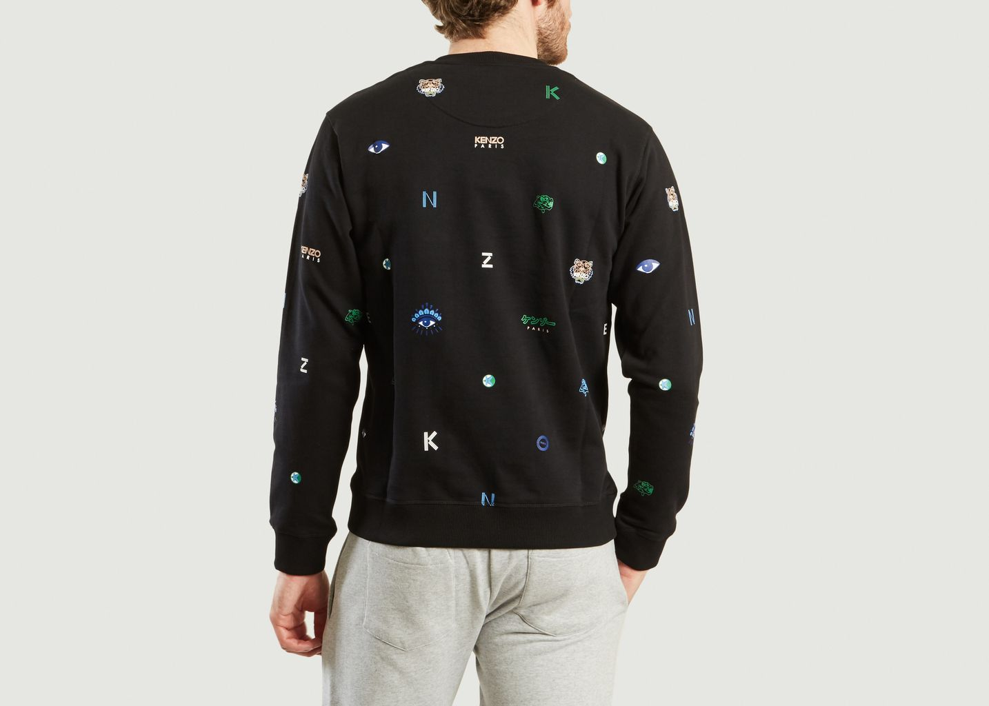 e0ef7048e6bc Sweat Multi Icons Noir Kenzo   L Exception