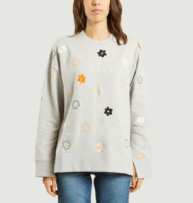 Sweatshirt Fendu Jackie Flowers