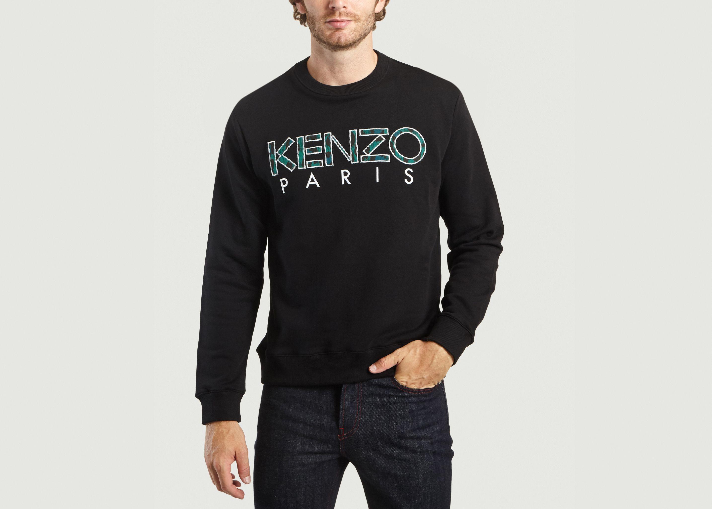 b8cdc4930cb016 Soldes Sweatshirt Kenzo Paris Noir Kenzo à -30%   L Exception