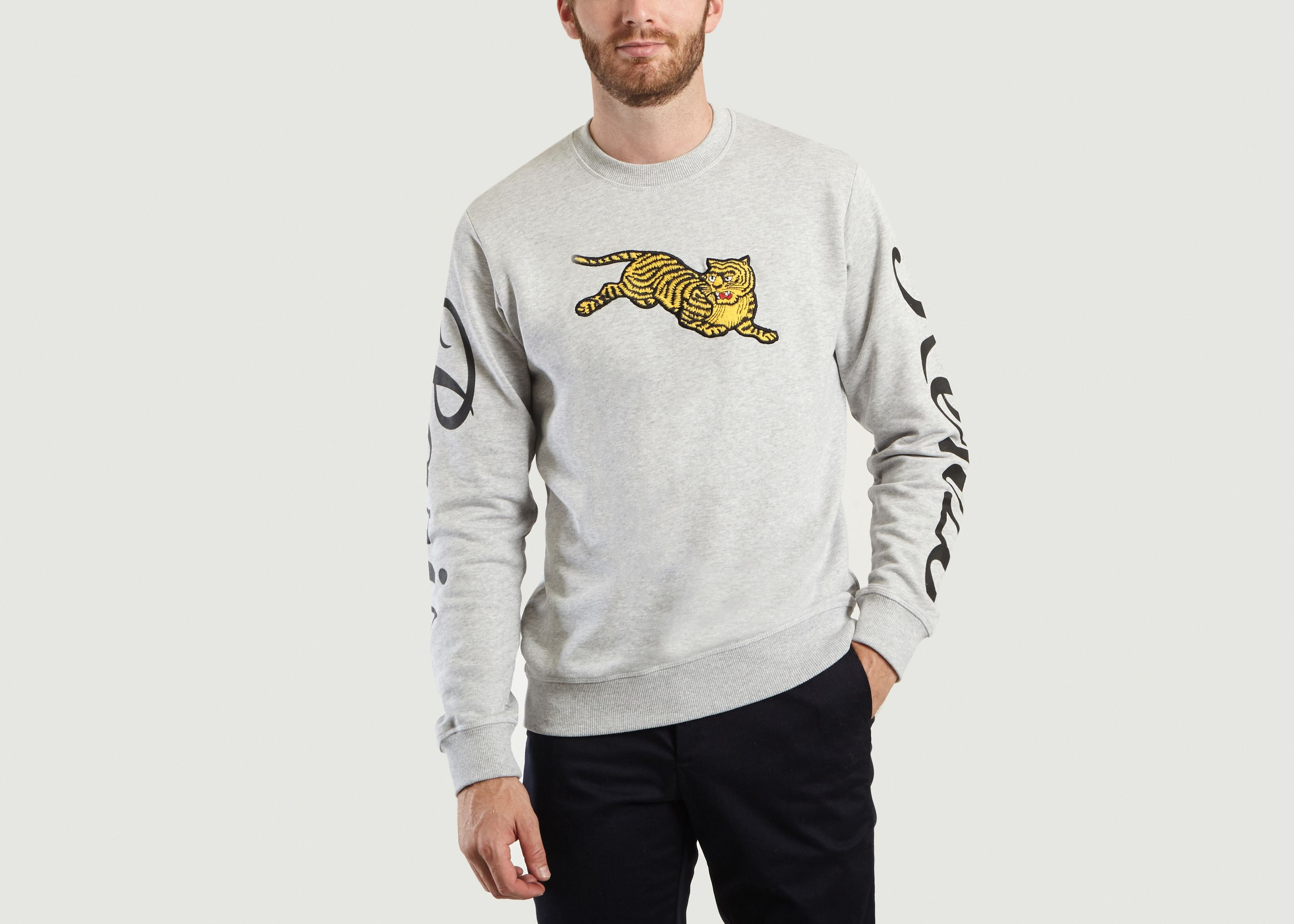 Sale Jumping Tiger Sweatshirt Light Grey Kenzo at -50%   L Exception 8fd01a38a18