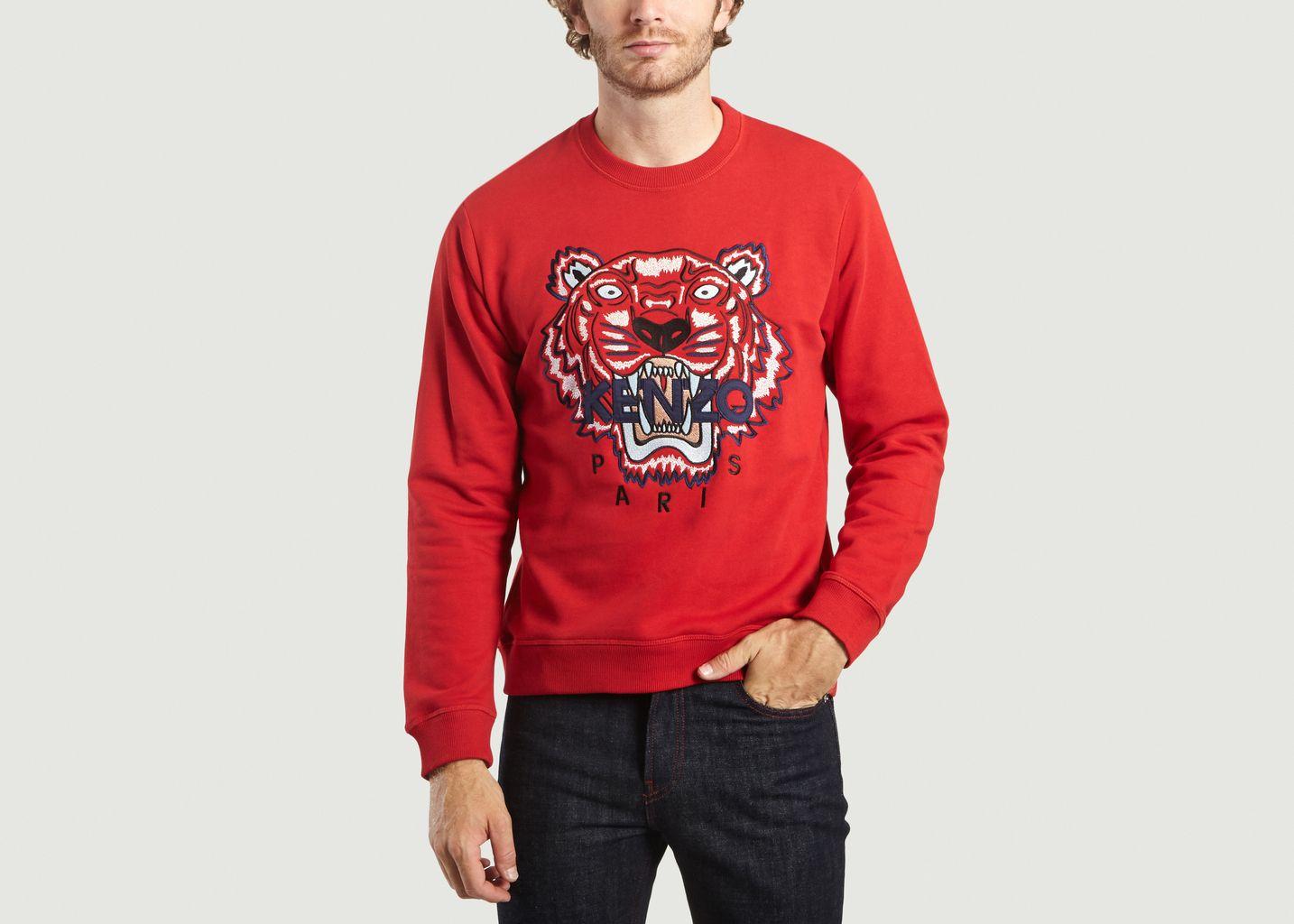 68372e3142597 Tiger Sweatshirt Red Kenzo