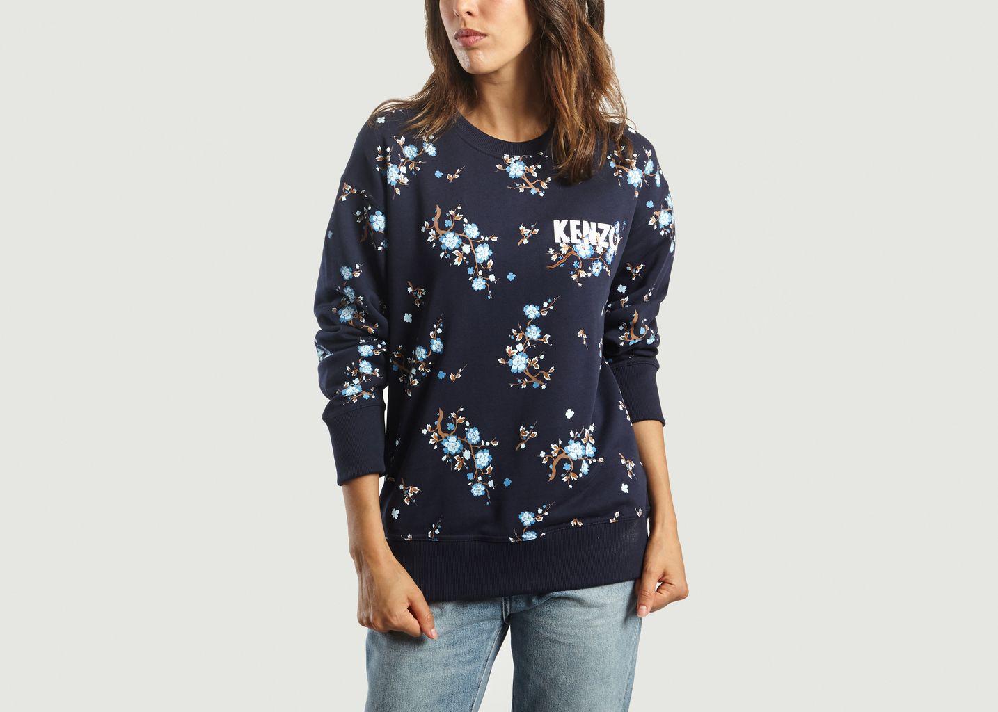 Sweatshirt Cheongsam Flower - Kenzo