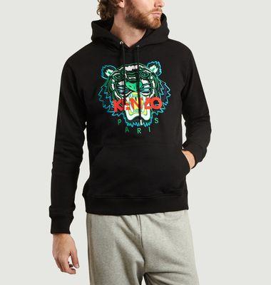 Sweatshirt à Capuche Tigre