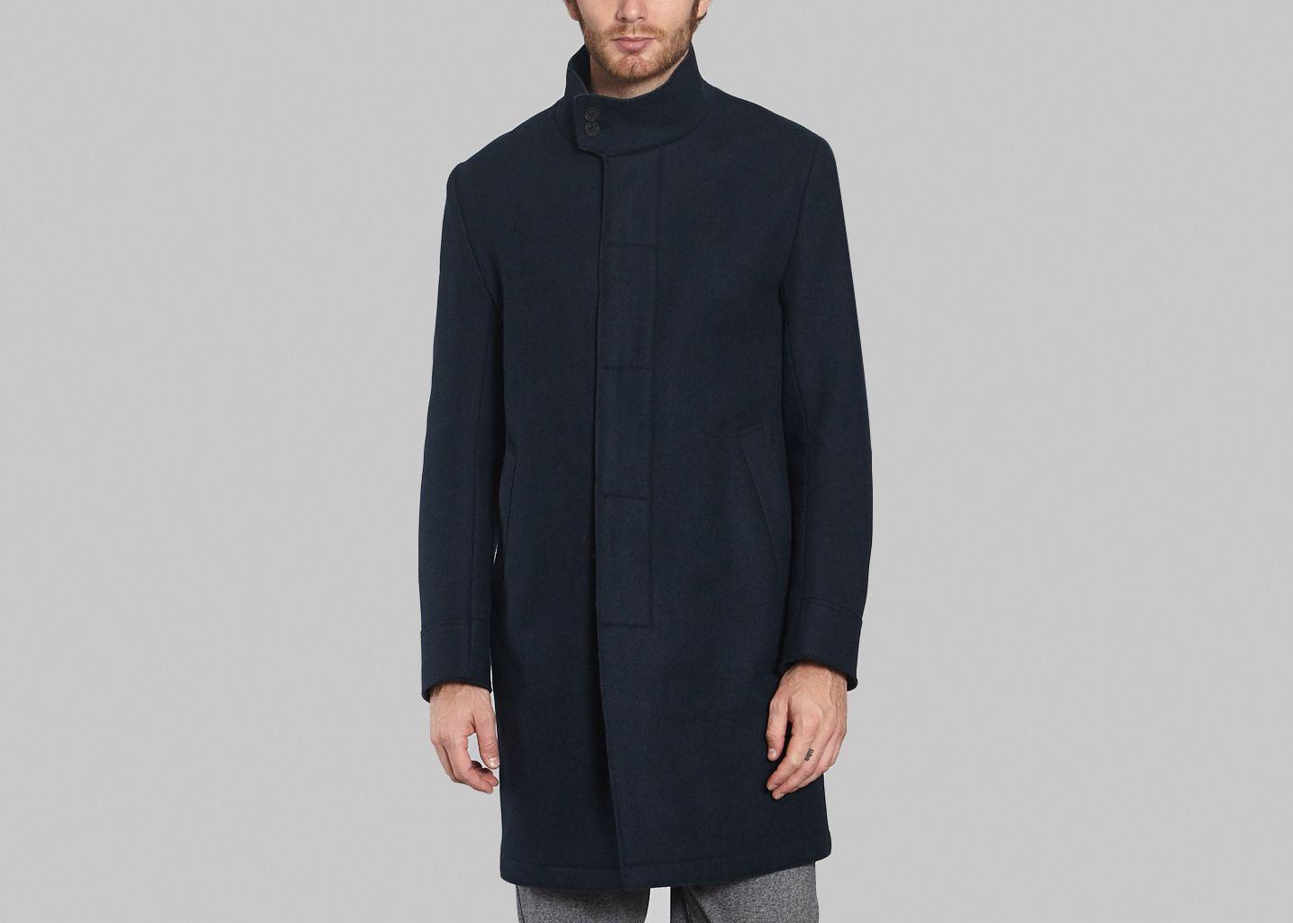 manteau laine et cachemire kenzo bleu marine l 39 exception. Black Bedroom Furniture Sets. Home Design Ideas