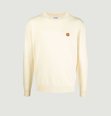 Pull broderie tigre