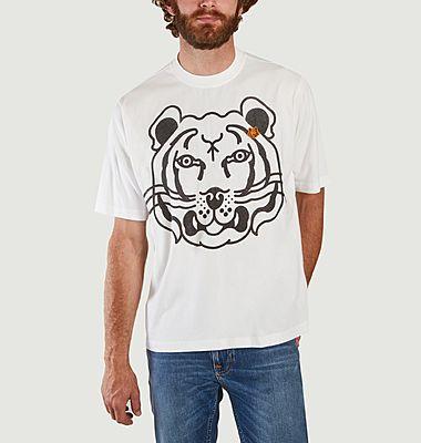 Tee-shirt oversize tête de tigre