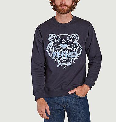 Tiger embroidered organic cotton sweatshirt
