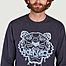 matière Sweatshirt en coton bio brodé tigre - Kenzo