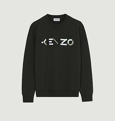 Pull Logo en laine mérinos