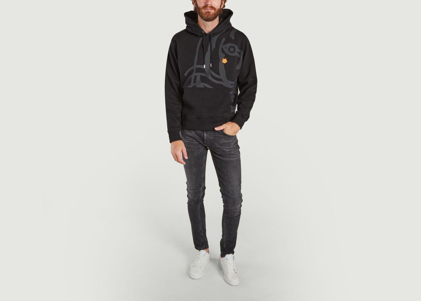Sweatshirt à capuche K-Tiger - Kenzo
