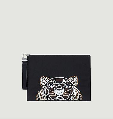Porte-documents Kampus tigre en toile