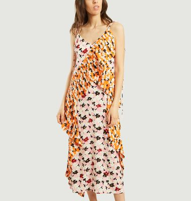 Jackie Flowers Midi Dress