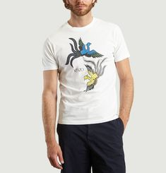 T-Shirt Print Flying Phoenix