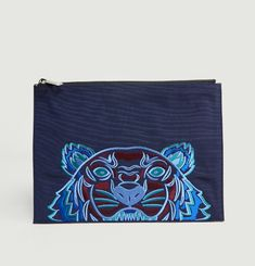 A4 Canvas Tiger Clutch
