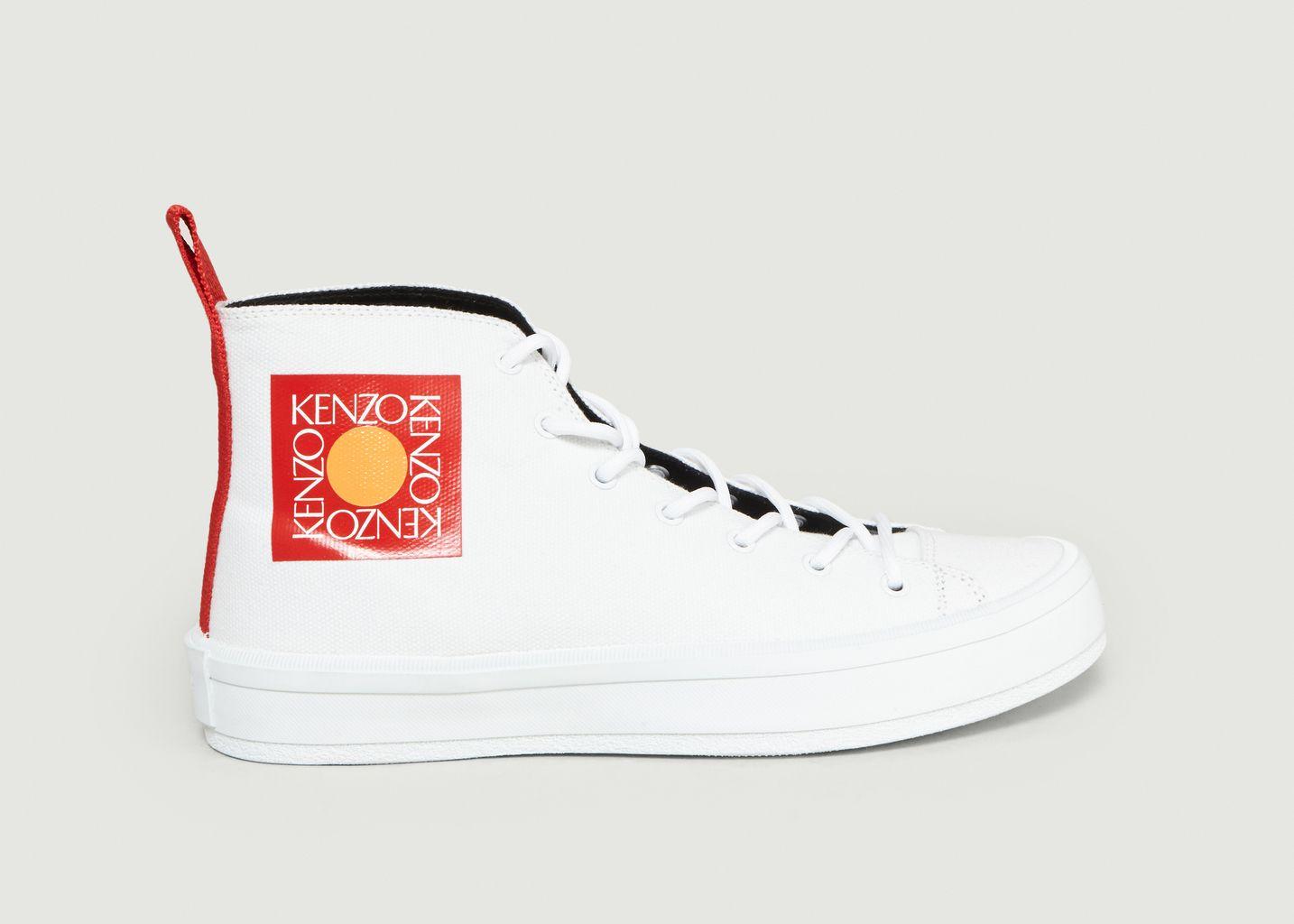 L'exception Kenzo K Hautes Sneakers Toile Blanc Street En 4z1xqHx0