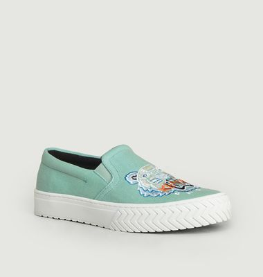 K-Skate embroidered tiger slip-on sneakers