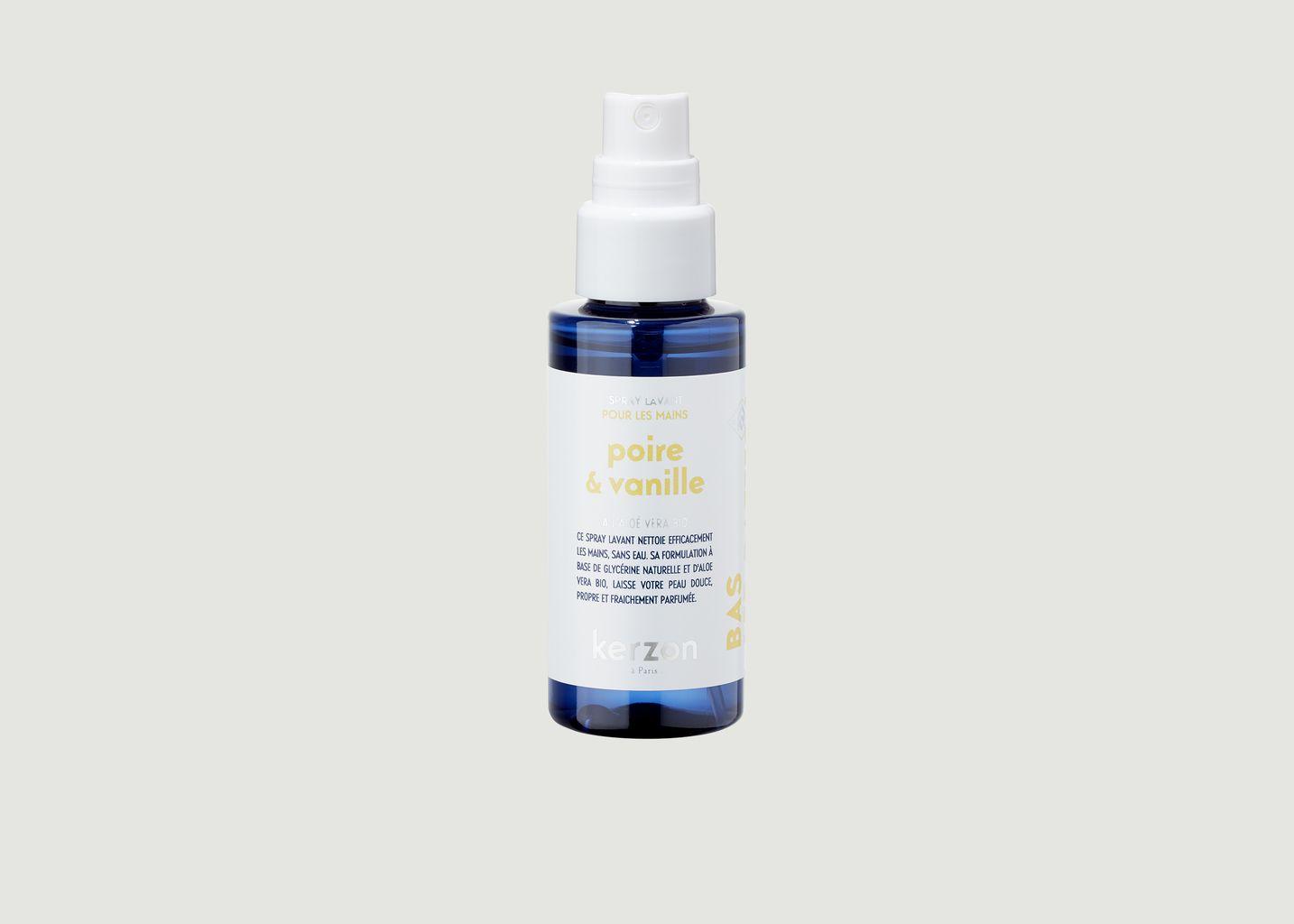 Spray lavant pour mains Poire & Vanille 50ml - Kerzon