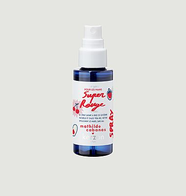 Spray lavant pour mains Cerise & Framboise ft Mathilde Cabanas 50ml