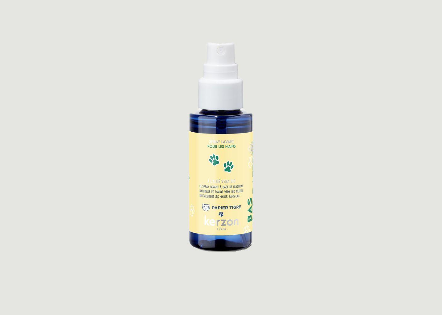 Spray lavant pour mains Sans parfum ft. Papier Tigre 50ml - Kerzon