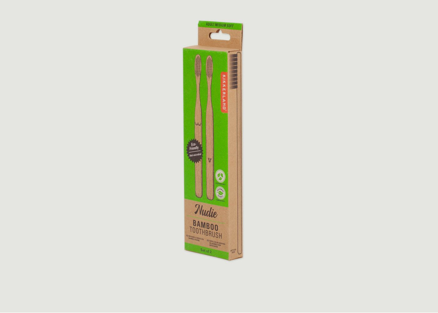 Lot De 2 Brosses A Dents Bambou - Kikkerland